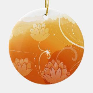 抽象芸術の花は色水Lillyを暖めます セラミックオーナメント
