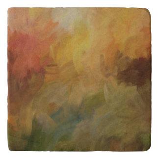 抽象芸術の葉 トリベット