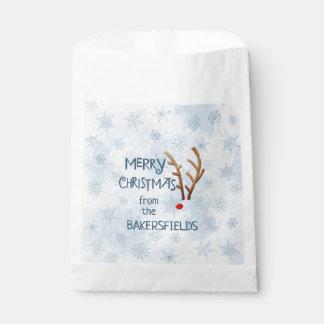抽象芸術はトナカイ、メリークリスマスをからの赤ゆっくり進ました フェイバーバッグ