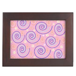 抽象芸術はピンクで渦巻きます ジュエリーボックス