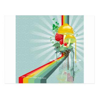 抽象芸術は成長する虹を着色します ポストカード