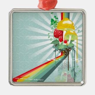 抽象芸術は成長する虹を着色します メタルオーナメント