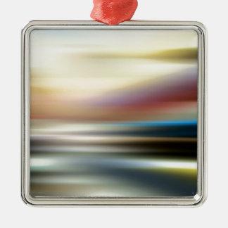 抽象芸術は無限部屋を着色します シルバーカラー正方形オーナメント