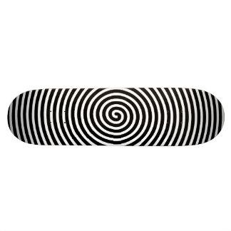 抽象芸術は白黒に催眠術をかけました スケートボード