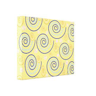 抽象芸術は黄色で渦巻きます キャンバスプリント