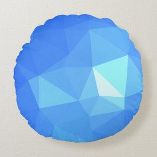 抽象芸術及びはっきりした幾何学的設計-水きらめき ラウンドクッション