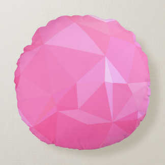 抽象芸術及びモダンな幾何学的設計-ばら色愛 ラウンドクッション