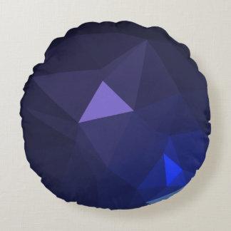 抽象芸術及びモダンな幾何学的設計- OceanViolet ラウンドクッション