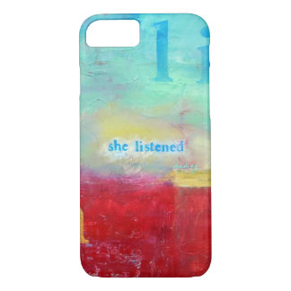 抽象芸術彼女は電話箱を聞きました iPhone 8/7ケース