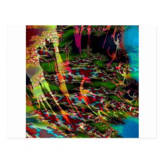 抽象芸術色の暗闇のカスタード ポストカード