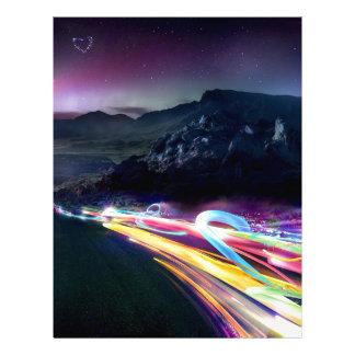 抽象芸術色のNorthern Lightsの道 レターヘッド