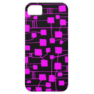 抽象芸術111211 -黒のマゼンタ iPhone SE/5/5s ケース