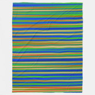 抽象芸術130716 (03)の-横のストライプ フリースブランケット