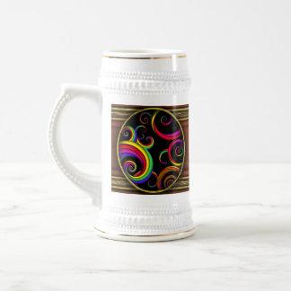 抽象芸術-らせん状-ピエロの中の… ビールジョッキ