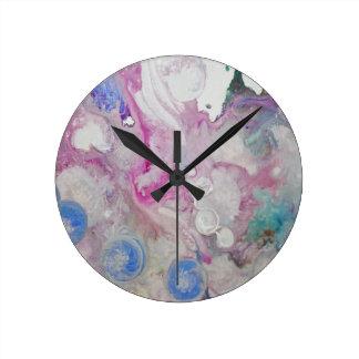 抽象芸術 ラウンド壁時計