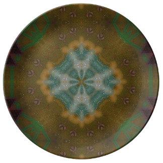 抽象芸術-地球の調子-は装飾的な磁器地図をつくります 磁器プレート