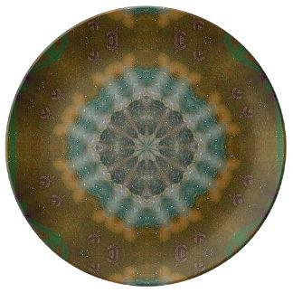 抽象芸術-地球の調子(2) -磁器皿 磁器プレート