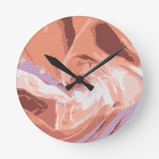 抽象芸術: 地球 ラウンド壁時計
