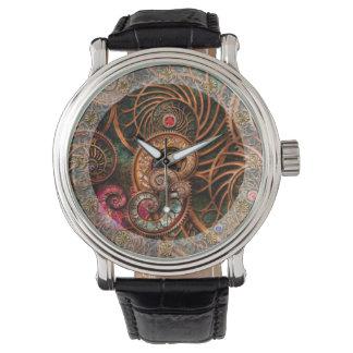 抽象芸術-海の驚異 腕時計