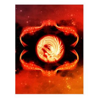 抽象芸術、神秘的なドラゴンの印 ポストカード