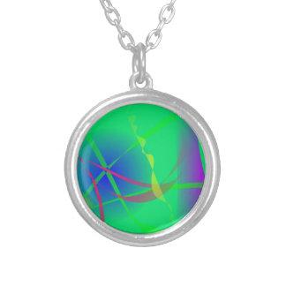 抽象芸術|緑|惑星|芸術 ネックレス