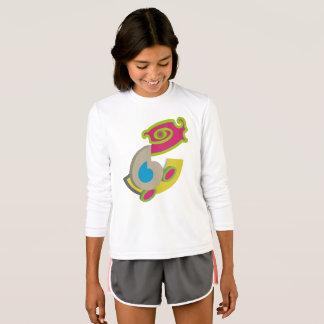 抽象芸術-色及び形の美しい Tシャツ