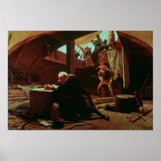 拘禁されたコロンブス1863年 ポスター