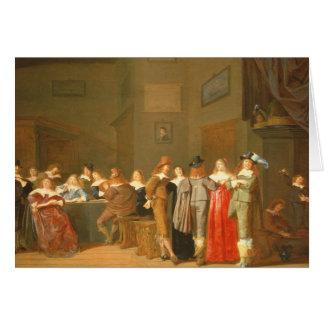 招く場面1644年(キャンバスの油) カード
