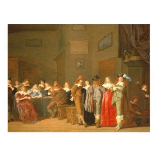 招く場面1644年(キャンバスの油) ポストカード
