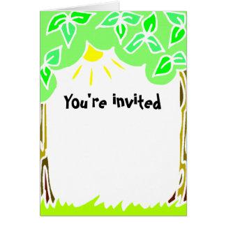 招待されました カード