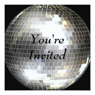 招待されました-ディスコの球 カード
