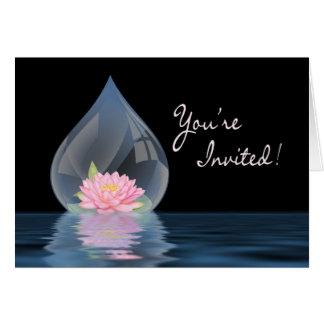 招待されました-多目的- WATERDROPのはす カード