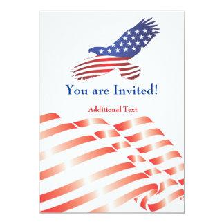 招待のテンプレートの政治旗及びワシ カード