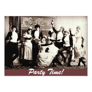 招待を祝っているパーティーの時間旧式な女性 11.4 X 15.9 インビテーションカード