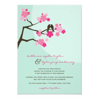 招待を結婚している桜の桜愛鳥 カード