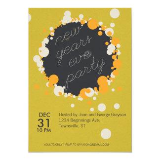 招待ノスタルジックな新年のパーティーの 12.7 X 17.8 インビテーションカード
