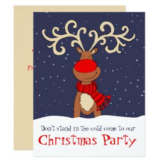 招待入って来クリスマス・パーティのトナカイ カード