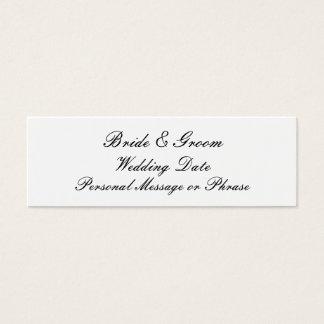 招待状のための結婚式のメモの挿入物 スキニー名刺