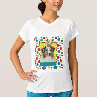 招待状のカップケーキ-オーストラリアの羊飼い Tシャツ