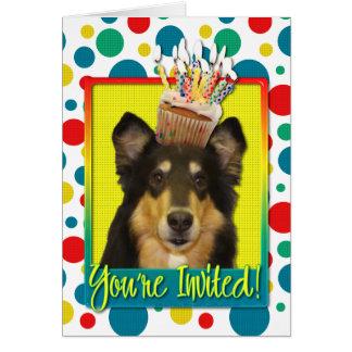 招待状のカップケーキ-コリー-キャロライン カード