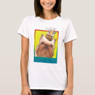 招待状のカップケーキ-ブリュッセルGriffon Tシャツ