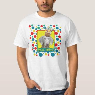 招待状のカップケーキ- Weimeraner Tシャツ