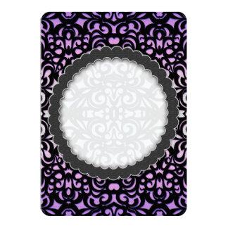 招待状のダマスク織のスタイルのインスピレーション カード