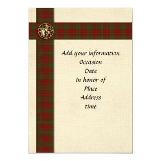 招待状のテンプレートの男らしいスコットランドの格子縞 12.7 X 17.8 インビテーションカード