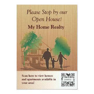 招待状のテンプレート私の家の不動産 カード