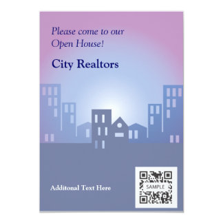 招待状のテンプレート都市不動産仲介業者 カード