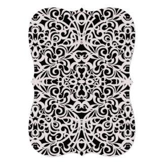招待状のバロック式のスタイルのインスピレーション カード