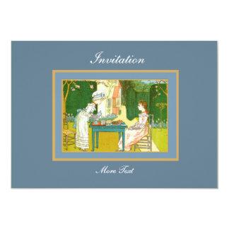 招待状のヴィンテージのビクトリアンなお茶会 カード