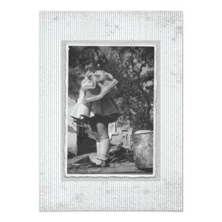 招待状のヴィンテージのレトロRhotograph カード