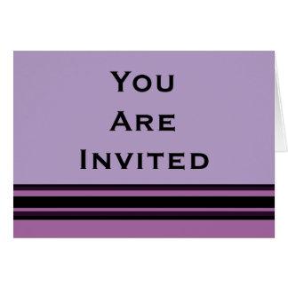 招待状は縞で飾ります カード